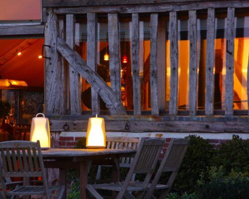 Terrasse la Vie de Cocagne, gite de charme, Normandie