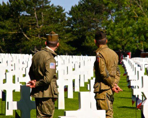 Visite du cimetière américain de Colleville