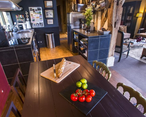 Cuisine gîte de luxe Bonnebosq - La Vie de Cocagne