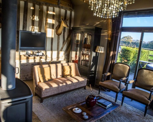 Le salon gite de luxe normandie - La Vie de Cocagne