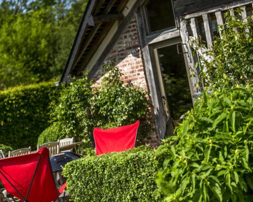 La Vie de Cocagne, maison d'hôtes de charme Deauville, terrasse sud