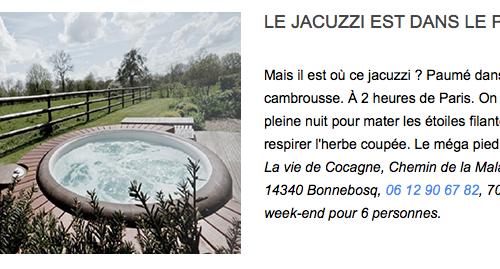 Gite de luxe deauville Jacuzzi La Vie de Cocagne