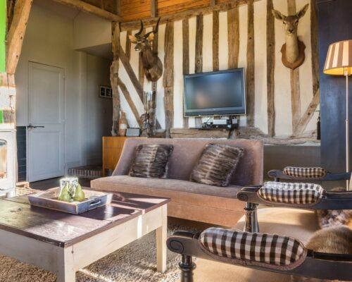 Living room, la Vie de Cocagne, Normandy cottage