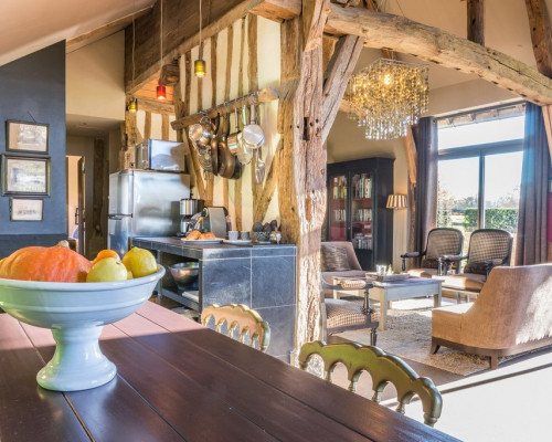 Self catering Normandy, la Vie de Cocagne, living room