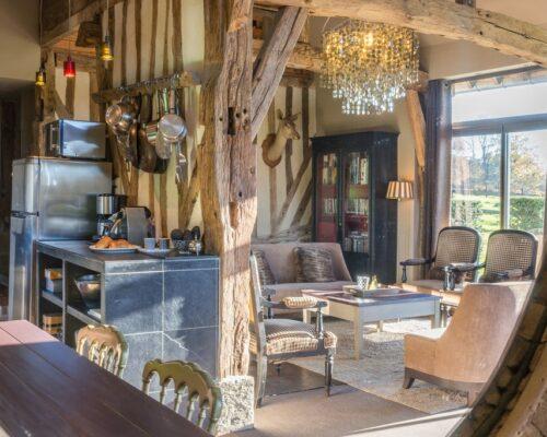 Living area, gite de charme, Normandy, la Vie de Cocagne