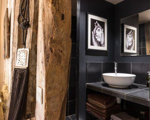 La Vie de Cocagne salle de bains chambre chocolat